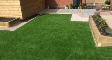 Astro turf with raised beds